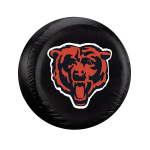 Chicago Tire Cover with Bears Logo on Black Vinyl - Large