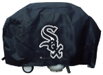 Chicago Grill Cover with White Sox Logo on Black Vinyl - Deluxe