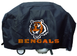 Cincinnati Grill Cover with Bengals Logo on Black Vinyl - Deluxe