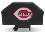 Cincinnati Grill Cover with Reds Logo on Black Vinyl - Economy