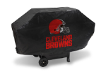 Cleveland Grill Cover with Browns Logo on Black Vinyl - Deluxe