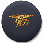 Navy Seal Tire Cover - Black Vinyl