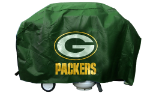 Green Bay Grill Cover with Packers Logo on Green Vinyl - Deluxe