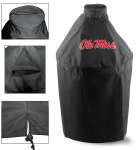 Ole Miss Kamado Style Grill Cover w/ Rebels Logo