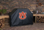 Auburn Grill Cover with Tigers Logo on Black Vinyl