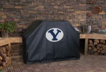 Brigham Young Grill Cover with Cougars Logo on Black Vinyl