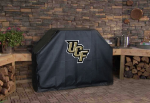 Central Florida Grill Cover with Golden Knights Logo on Black Vinyl