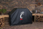 Cincinnati Grill Cover with Bearcats Logo on Black Vinyl