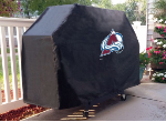 Colorado Grill Cover with Avalanche Logo on Black Vinyl