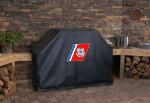 US Coast Guard Grill Cover with Military Logo on Black Vinyl