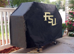 Florida State Grill Cover with Seminoles FSU Logo on Black Vinyl