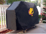 Ferris State Grill Cover with Bulldogs Logo on Black Vinyl