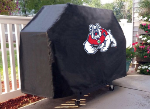 Fresno State Grill Cover with Bulldogs Logo on Black Vinyl