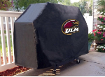 Louisiana Monroe Grill Cover with Warhawks Logo on Black Vinyl