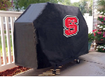 NC State Grill Cover with Wolfpack Logo on Black Vinyl