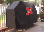 Nebraska Grill Cover with Cornhuskers Logo on Black Vinyl