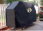 Nashville Grill Cover with Predators Logo on Black Vinyl