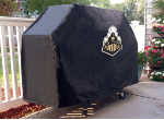 Purdue Grill Cover with Boilermakers Logo on Black Vinyl