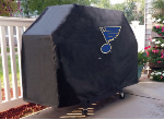 St Louis Grill Cover with Blues Logo on Black Vinyl