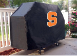 Syracuse Grill Cover with Orange Logo on Black Vinyl