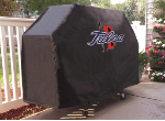 Tulsa Grill Cover with Golden Hurricanes Logo on Black Vinyl