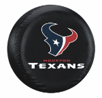 Houston Tire Cover with Texans Logo on Black Vinyl - Large