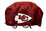 Kansas City Grill Cover with Chiefs Logo on Red Vinyl - Deluxe