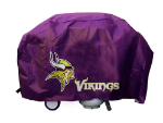 Minnesota Grill Cover with Vikings Logo on Purple Vinyl - Deluxe