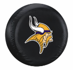 Minnesota Tire Cover with Vikings Logo on Black - Standard
