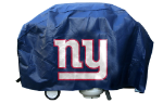 New York Grill Cover with Giants Logo on Blue Vinyl - Deluxe