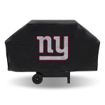 New York Grill Cover with Giants Logo on Blue Vinyl - Economy