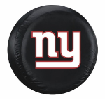 New York Tire Cover with Giants Logo on Black Vinyl - Large