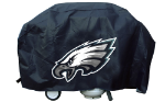 Philadelphia Grill Cover with Eagles Logo on Black Vinyl - Deluxe