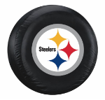 Pittsburgh Tire Cover with Steelers Logo on Black - Large