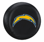 Los Angeles Tire Cover with Chargers Logo on Black - Standard