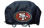 San Francisco Grill Cover with 49ers Logo on Black Vinyl - Deluxe