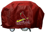 St Louis Grill Cover with Cardinals Logo on Black Vinyl - Deluxe