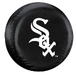 Chicago Tire Cover with White Sox Logo on Black - Standard