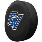 Grand Valley State Tire Cover with Lakers Logo on Black Vinyl
