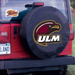 Louisiana Monroe Tire Cover with Warhawks Logo on Black