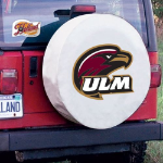 Louisiana Monroe Tire Cover with Warhawks Logo on White