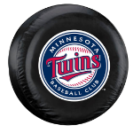 Minnesota Tire Cover with Twins Logo on Black Vinyl - Standard