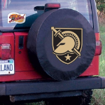 Military Academy Tire Cover on Black Vinyl