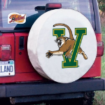 Vermont Tire Cover with Catamounts Logo on White Vinyl