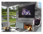 James Madison Outdoor TV Cover w/ Dukes Logo - Black