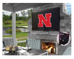 Nebraska Outdoor TV Cover w/ Cornhuskers Logo - Black