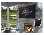 Tulsa Outdoor TV Cover w/ Golden Hurricanes Logo - Black