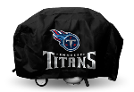 Tennessee Grill Cover with Titans Logo on Black Vinyl - Economy
