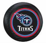 Tennessee Tire Cover with Titans Logo on Black - Standard