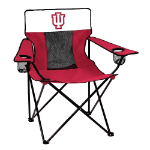 Indiana Hoosiers Elite Canvas Chair w/ Officially Licensed Team Logo